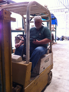 Our functional museum quality forklift.  We are going to name it Timex.