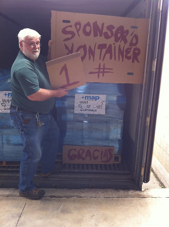SKIP Sponsored Kontainer International Program  First container for which we are grateful.