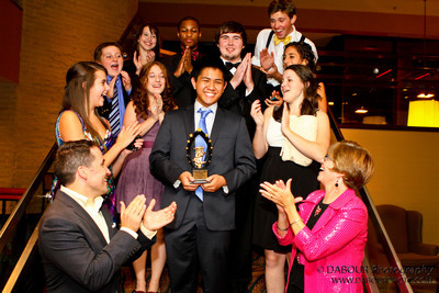Perry Award Winner Ken surrounded by his cast mates
