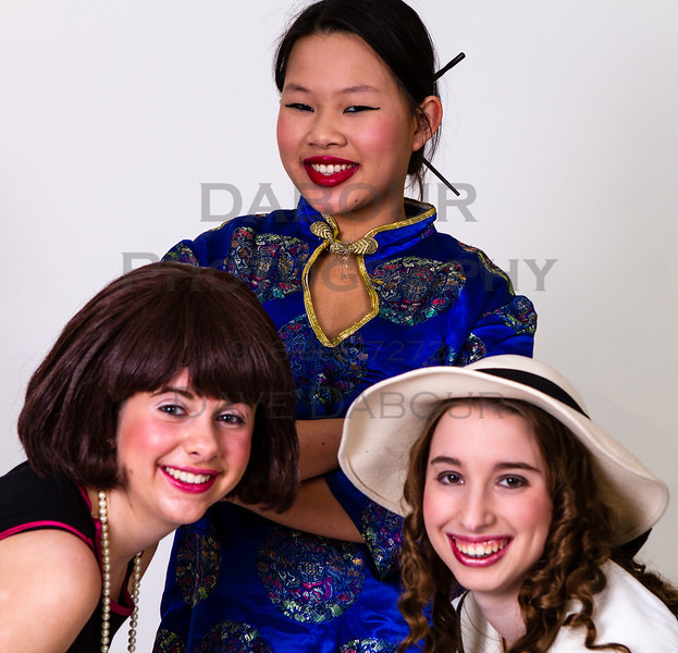 "Kaitlin Pang as Mrs Meers, Lauren Fivek as Millie and Emma Ettinger as Miss Dorothy in SKIT's upcoming ""Thoroughly Modern Millie"" Photo by DAVE DABOUR"