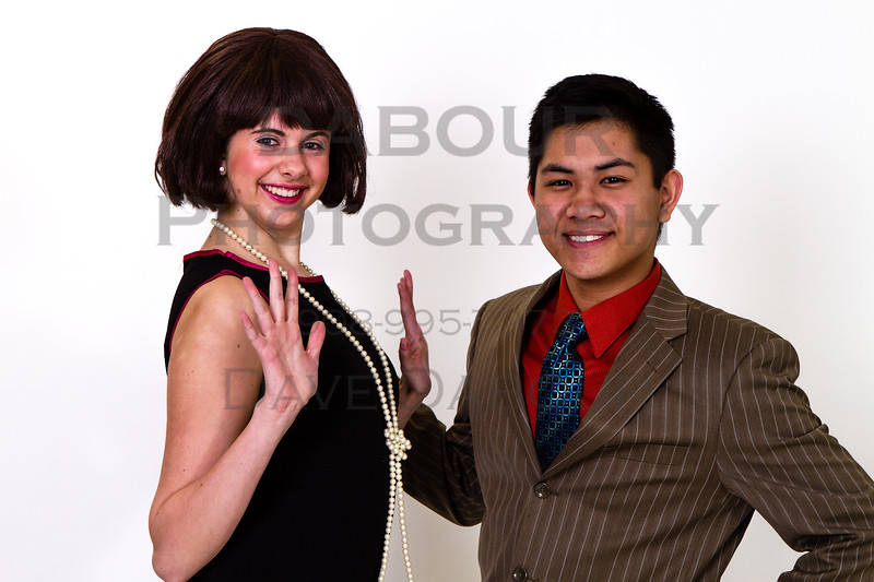 "Ken Abes as Jimmy and Lauren Fivek as Millie in SKIT's upcoming ""Thoroughly Modern Millie"" Photo by DAVE DABOUR"