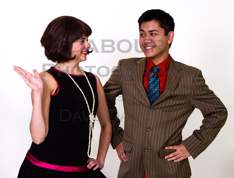 """Ken Abes as Jimmy and Lauren Fivek as Millie in SKIT's upcoming """"Thoroughly Modern Millie"""" Photo by DAVE DABOUR"""