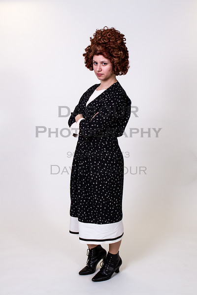 "Dawn Cimilluca as Miss Flannery in SKIT's upcoming ""Thoroughly Modern Millie."" Photo by DAVE DABOUR"