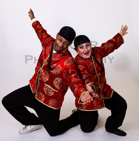 "Ben Izlar as Ching Ho and Andrew Plinio as Bun Foo in SKIT's upcoming ""Thoroughly Modern Millie"" Photo by DAVE DABOUR"