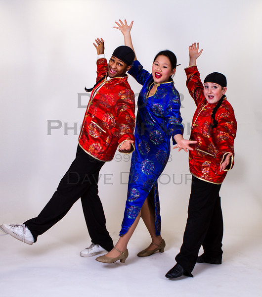 "Kaitlin Pang as Mrs Meers, Ben Izlar as Ching Ho and Andrew Plinio as Bun Foo in SKIT's upcoming ""Thoroughly Modern Millie"" Photo by DAVE DABOUR"