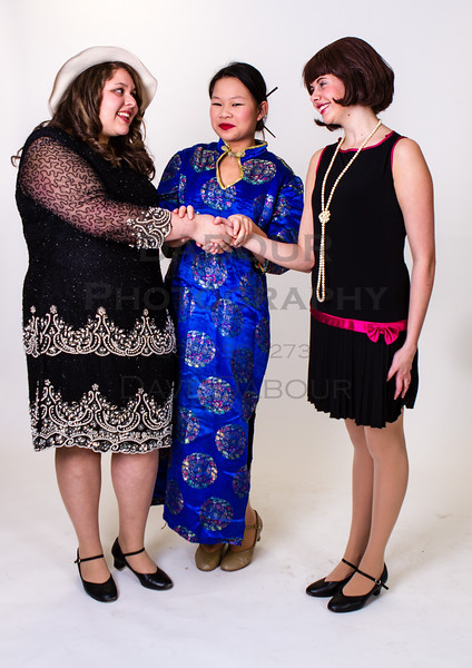 "Kaitlin Pang as Mrs Meers, Lauren Fivek as Millie and Amanda Galluzzo as Miss Dorothy in SKIT's upcoming ""Thoroughly Modern Millie"" Photo by DAVE DABOUR"