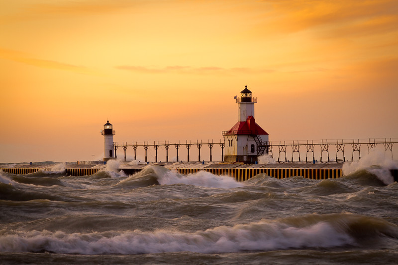 St. Joseph Light, Lake Michigan