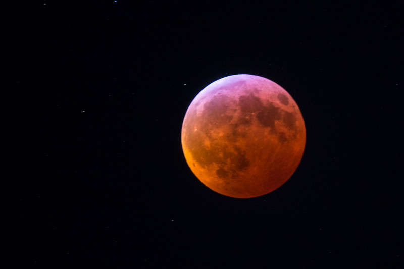Red moon of the eclipse