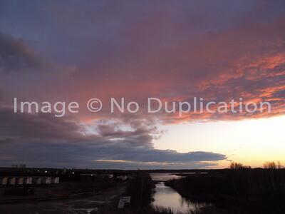 November 15, 2011 . . .  View from Grassy Pt. Rd.