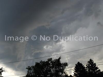 August 22, 2011 . . . above my neighborhood.