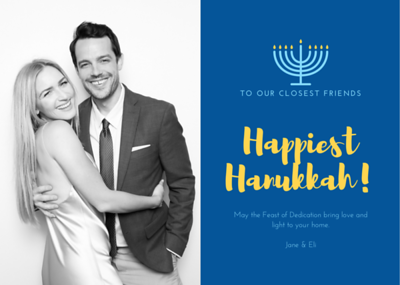 Hanukkah Greetings Card Example