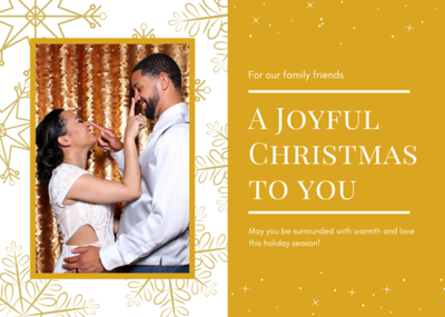 Copy of A Golden Joyful Christmas To You Card Example