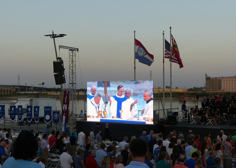 Fr. Provincial Ronald Mercier, Sj on the big screen