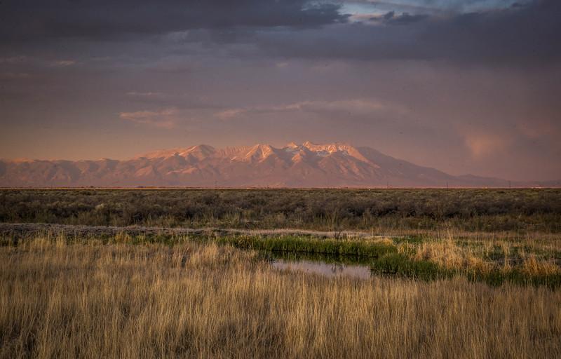 Monte Vista Wildlife Refuge view of the Sangre de Cristos.