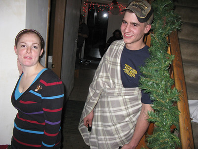 Krista and Cody (wrapped in his snuggly blankey).