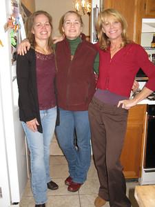 Sisters. Rose, Marilyn, Betty taking a break from the festivities.
