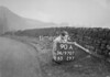 SD970790A, Man marking Ordnance Survey minor control revision point with an arrow in 1950s