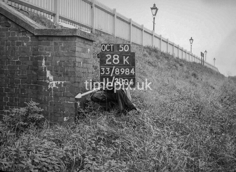 SJ898428K, Ordnance Survey Revision Point photograph of Greater Manchester