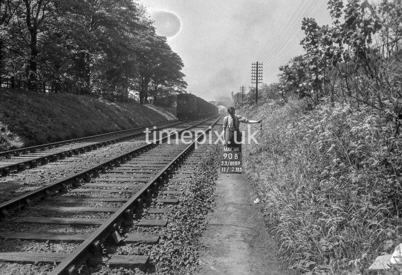 SJ818990B, Ordnance Survey Revision Point photograph in Greater Manchester
