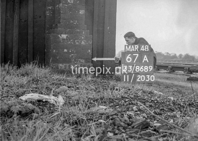 SJ868967A, Ordnance Survey Revision Point photograph in Greater Manchester