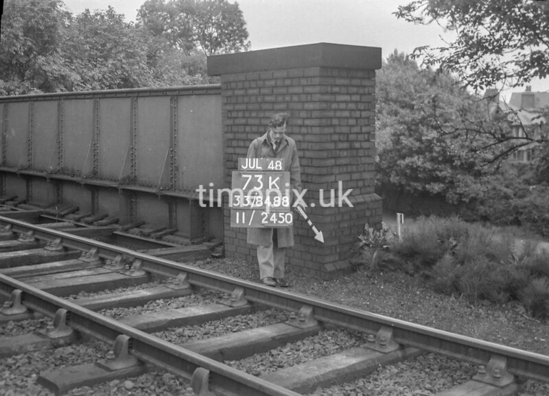 SJ848873K, Ordnance Survey Revision Point photograph in Greater Manchester