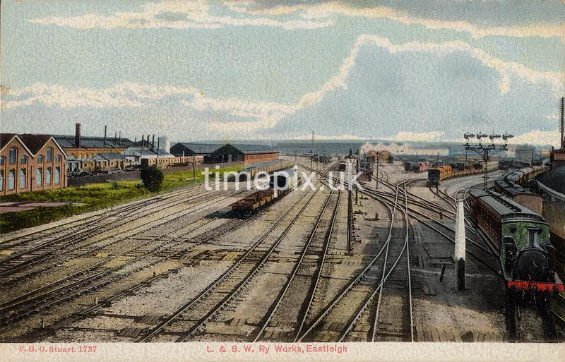 FGOS_01737, Edwardian postcard of Eastleigh by FGO Stuart c1905