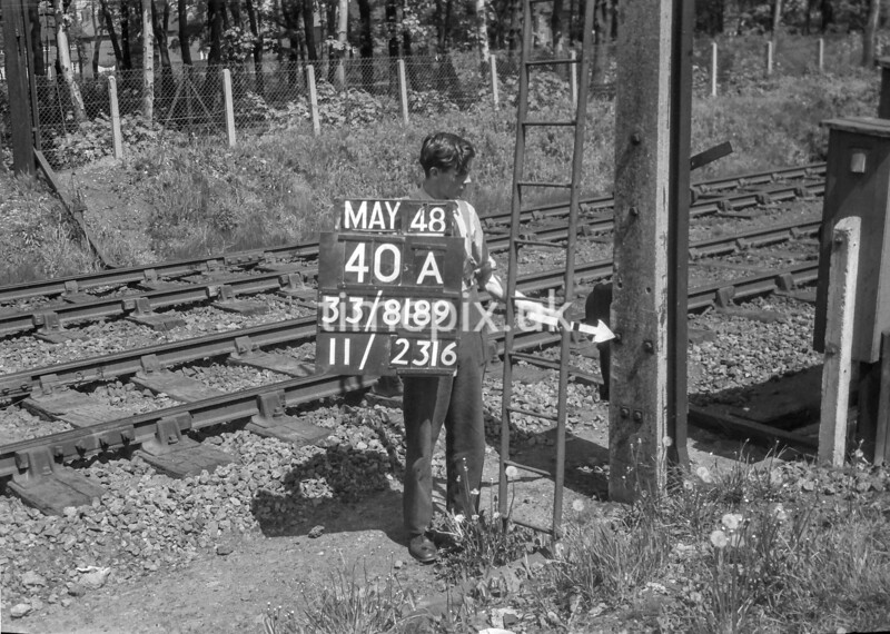 SJ818940A, Ordnance Survey Revision Point photograph in Greater Manchester