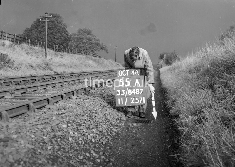 SJ848755A, Ordnance Survey Revision Point photograph in Greater Manchester