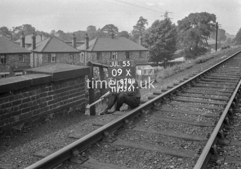 SJ878809X, Ordnance Survey Revision Point photograph of Greater Manchester