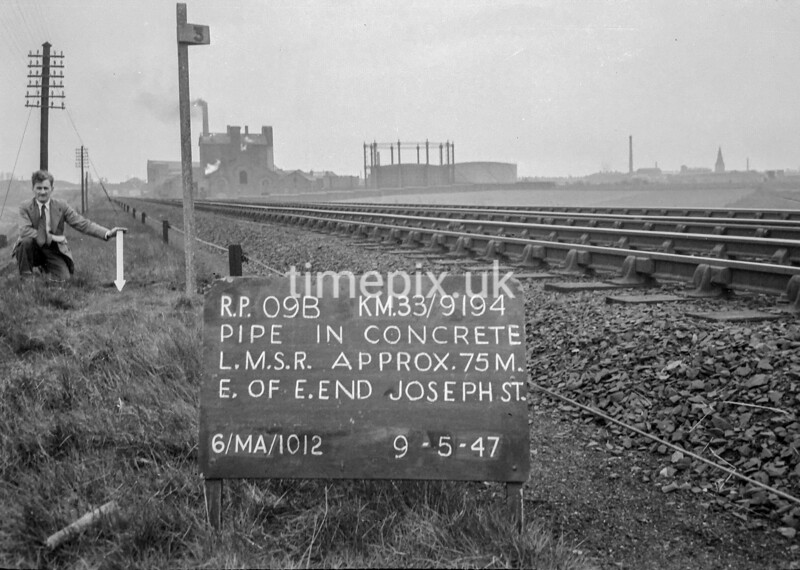 SJ919409B, Ordnance Survey Revision Point photograph in Greater Manchester