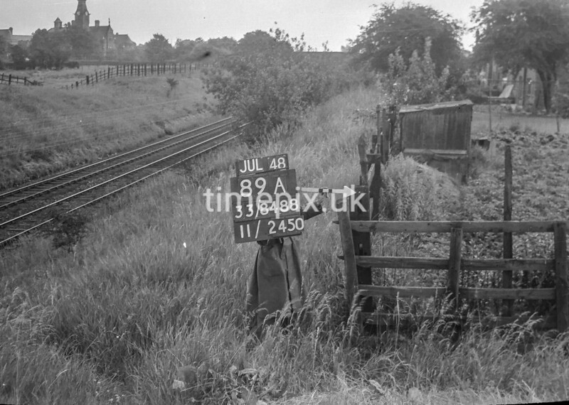 SJ848889A1, Ordnance Survey Revision Point photograph in Greater Manchester
