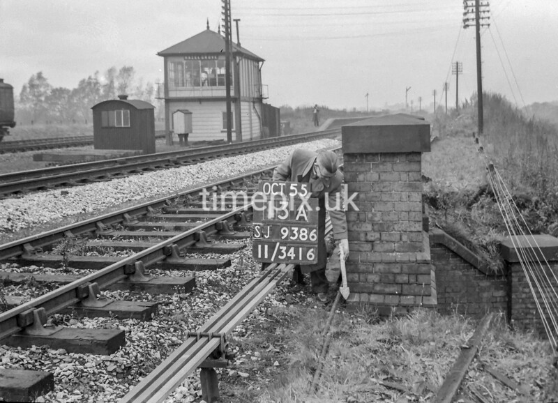 SJ938613A, Ordnance Survey Revision Point photograph in Greater Manchester