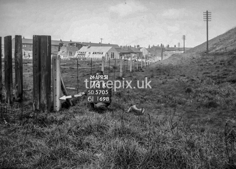 SD570576K, Ordnance Survey Revision Point photograph in Wigan