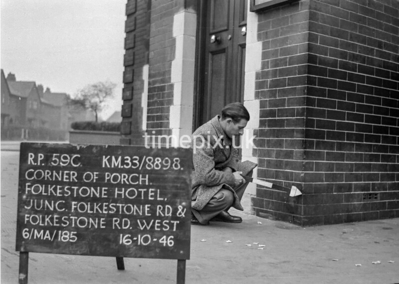 SJ889859C, Ordnance Survey Revision Point photograph in Greater Manchester