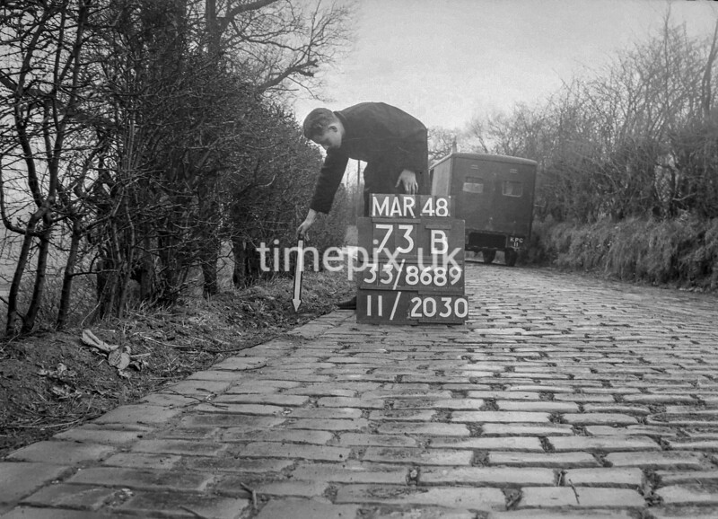 SJ868973B, Ordnance Survey Revision Point photograph in Greater Manchester