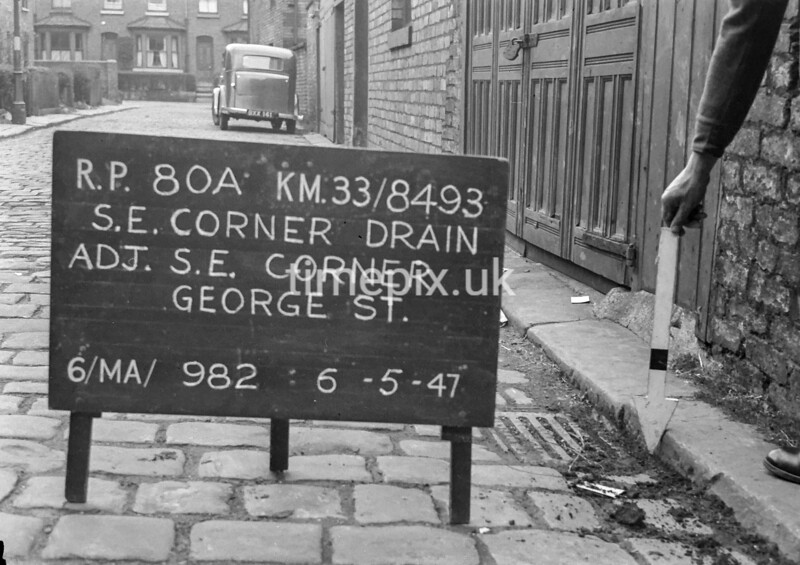 SJ849380A, Ordnance Survey Revision Point photograph in Greater Manchester