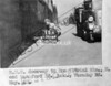 SK378815A, Man marking Ordnance Survey minor control revision point with an arrow in 1940s Sheffield