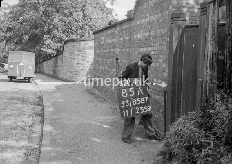 SJ858785A2, Ordnance Survey Revision Point photograph in Greater Manchester