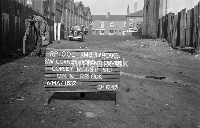 SJ909000L, Ordnance Survey Revision Point photograph in Greater Manchester
