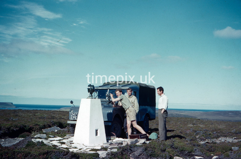 Eday, Orkney, Ordnance Survey retriangulation of GB. 1961