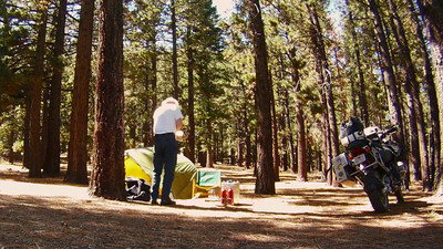 2012-08-24 --- Time lapse: setting up camp.  Actual elapsed time about 49 minutes sped up to about 49 seconds plus a couple of snapshots of the results tacked onto the end.  The campground is Wolf Creek Meadow off of CA 4 about a dozen miles south of Markleeville.
