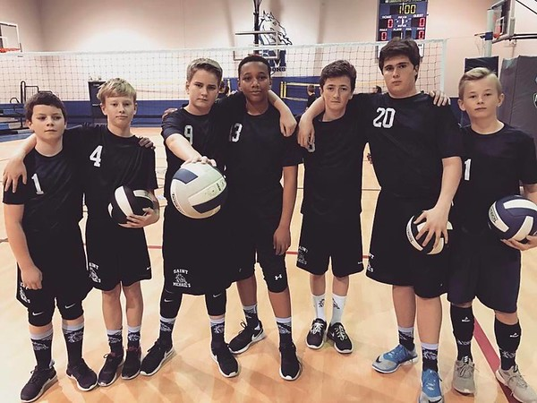 BOYS VOLLEYBALL   St. Michael's Blue & White