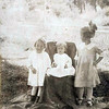 Taken in the Blanco Basin.  Virginia, Esther Margaret, and Pansy Amyx.