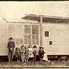Esther at her school in Kansas. Esther is 3rd child from left.