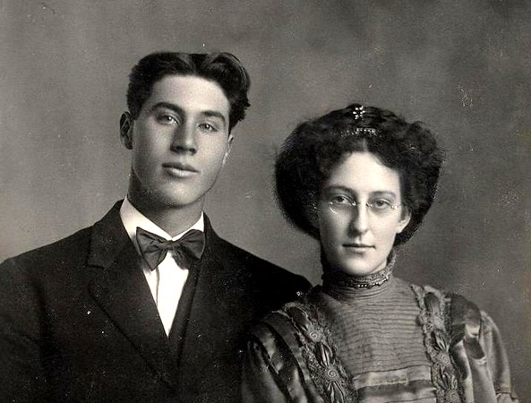 """Will & Ethel Carpenter (""""Half-Sister and brother-in-law of Mother, Esther Amyx"""") Ethel's mother is Jennie."""