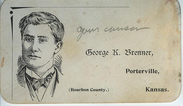 Calling Card for Esther's cousin, George Brenner.