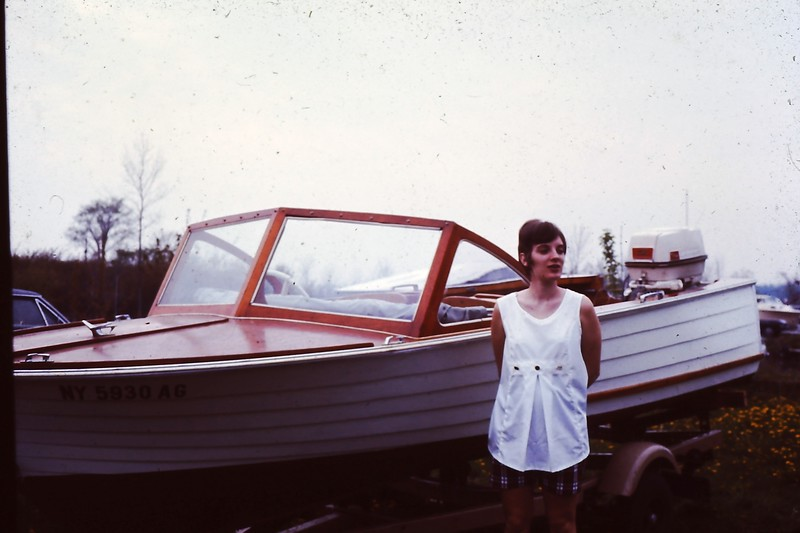 1970, summer @ Oneida Lake w. our boat