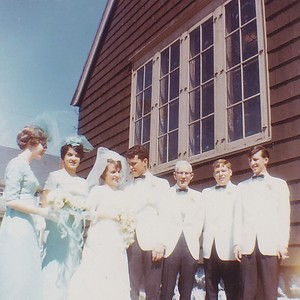 1967 Happy newlyweds