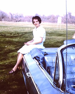"June ""65 .. a new '62 Chevy convertible and new girlfriend, Lillian"