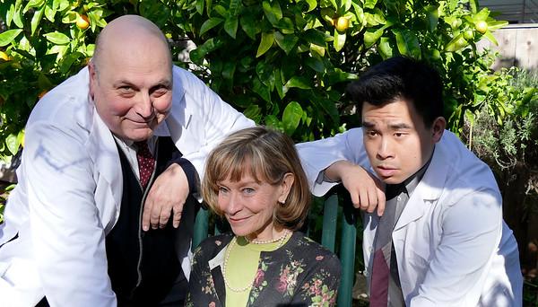 Medical team turns to Mrs. Donaldson.L-to-R: Søren Oliver, Nancy Shelby, Phil WongPhoto by Mel Solomon